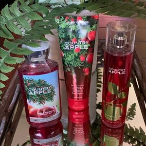 NEW BBW RETIRED COUNTRY APPLE 3 PC FRAGRANCE SET